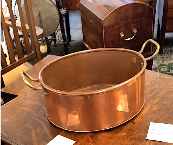 Late 19th Century Brass Handled Copper Pan SOLD
