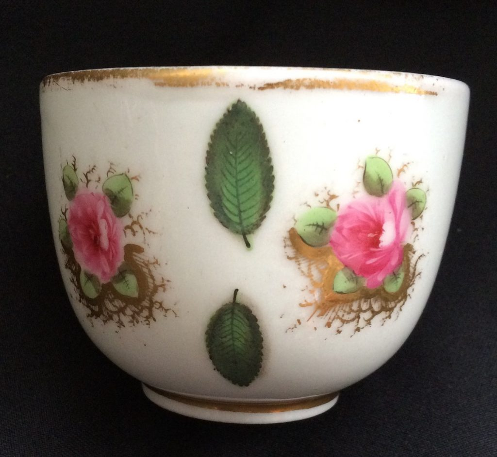 Very Rare Experimental Glassy Porcelain Swansea Porcelain Cup C1815