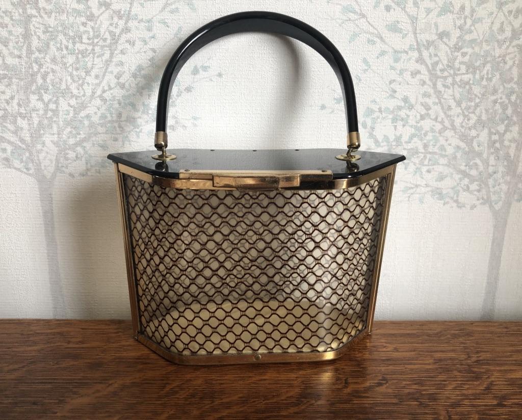 1950s American Majestic Hexagonal Lucite Handbag
