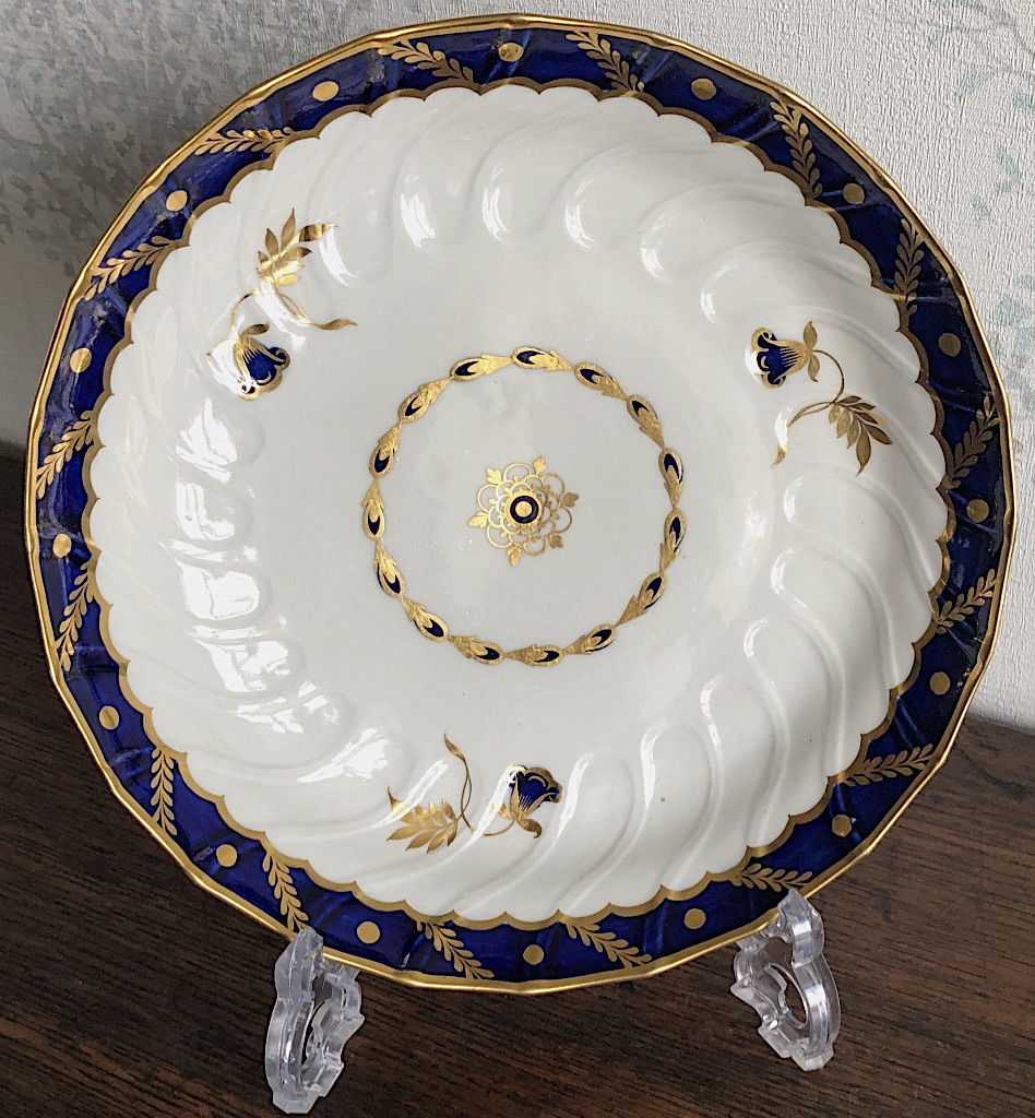Flight Worcester Bluebell Pattern Dessert Plate c1785