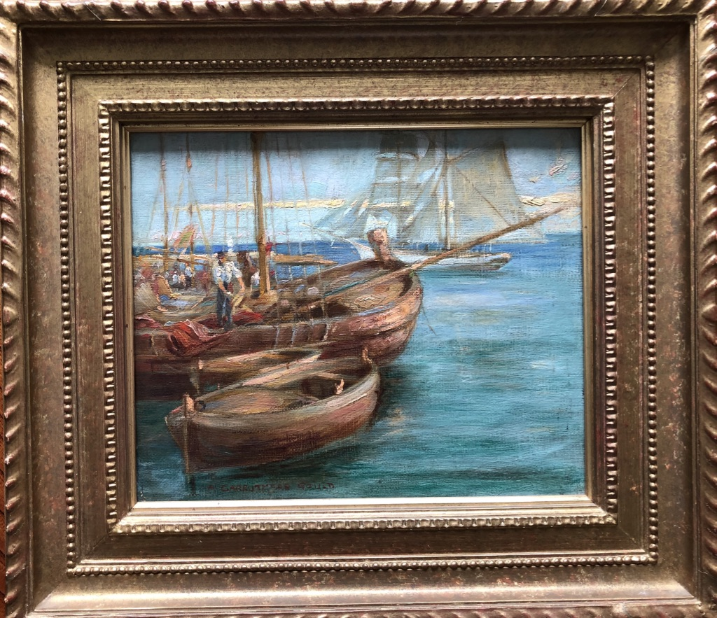 "Oil on Canvas ""Fishing Boats"" A Carruthers Gould"