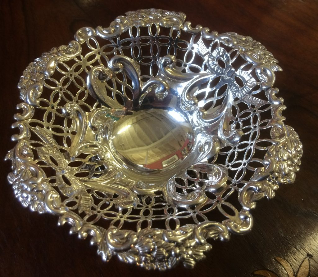 William Comyns Silver BonBon Dish London 1892